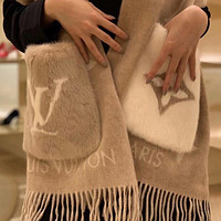 Louis Vuitton LV Women Fashion Pocket Cashmere Scarf Scarves