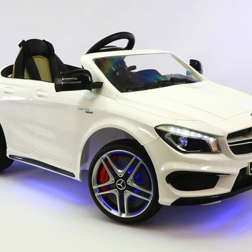 MERCEDES BENZ CLA45 RIDE-ON TOY CAR WITH PARENTAL REMOTE |  WHITE