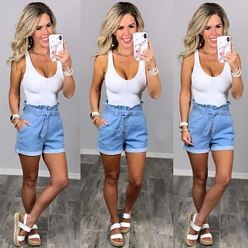Dreaming Of The Days Denim Shorts