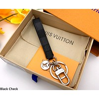 LV 2019 new simple wild keychain black check