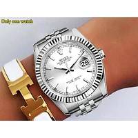 Rolex new fashion brand men and women fashion wild quartz watch