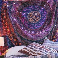 VIOLET MANDALA TAPESTRY : Hippie, Home Decoration, Tapestry, Tapestries, Urban Outfitters