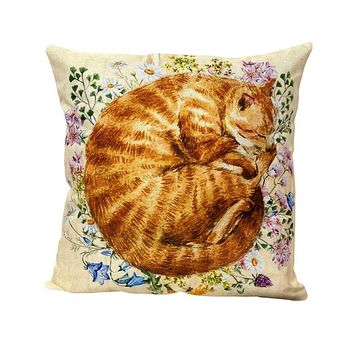 Cat | Ginger | Cat Pillow | Cute Cat | Cat Gifts | Cat Decor | Cat Photo | Gifts for Cat Lovers | Accent pillow | Throw Pillow Covers