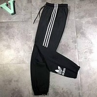 Adidas Reflective Fashion Casual Men Print Sport Stretch Pants Trousers Sweatpants G-MG-FSSH