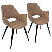 Lumisource Mustang Contemporary Accent Chair Set