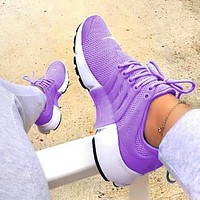 Nike Air Presto Tide brand wild casual sports running shoes purple