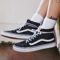 Vans Old School Classics Casual Canvas Flats Sneakers Sport Shoes High Top Shoes