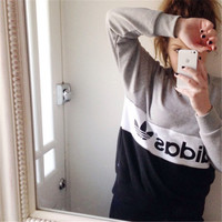 Fashion Letter and Logo Print Long Sleeve Women Casual Sweatshirt Shirt Top Blouse T-Shirt _ 1860