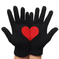 Gloves Heart Gloves, Heart Gloves For Him For Her Red Heart, Special Gift, Romantic Gloves