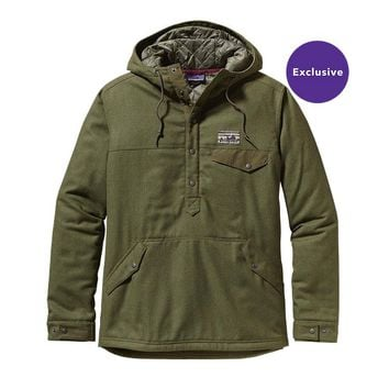 Patagonia Men's Reclaimed Wool Snap-T Pullover   Fatigue Green