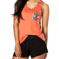 Coral Tribal Pocket Tank