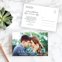 Classic Date Save The Date Postcards by Emily Crawford | Elli