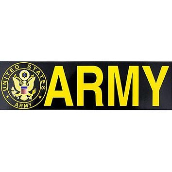 Army With Seal Bumper Sticker