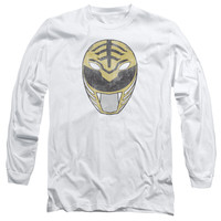 POWER RANGERS/WHITE RANGER MASK-L/S ADULT 18/1-WHITE