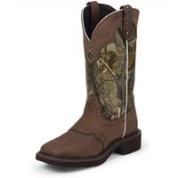 Women's Justin Aged Bark Cowgirl Boots