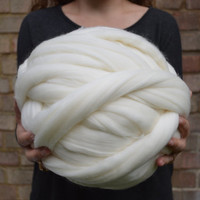 Merino Wool Roving - 16 Micron Superfine Raw Wool