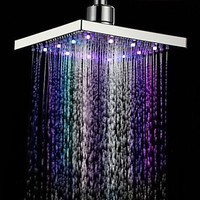 Modern 7 Colors Changing LED Contemporary Shower Faucet Head of 8 Inch