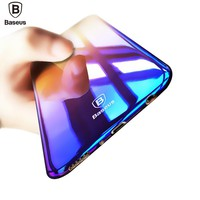 Baseus Brand Luxury Case For Samsung Galaxy S8 / S8 Plus Aurora Gradient Color Transparent Hard PC Cover For Galaxy S8 S 8 Plus