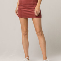 IVY & MAIN Seamed Corduroy Mini Skirt
