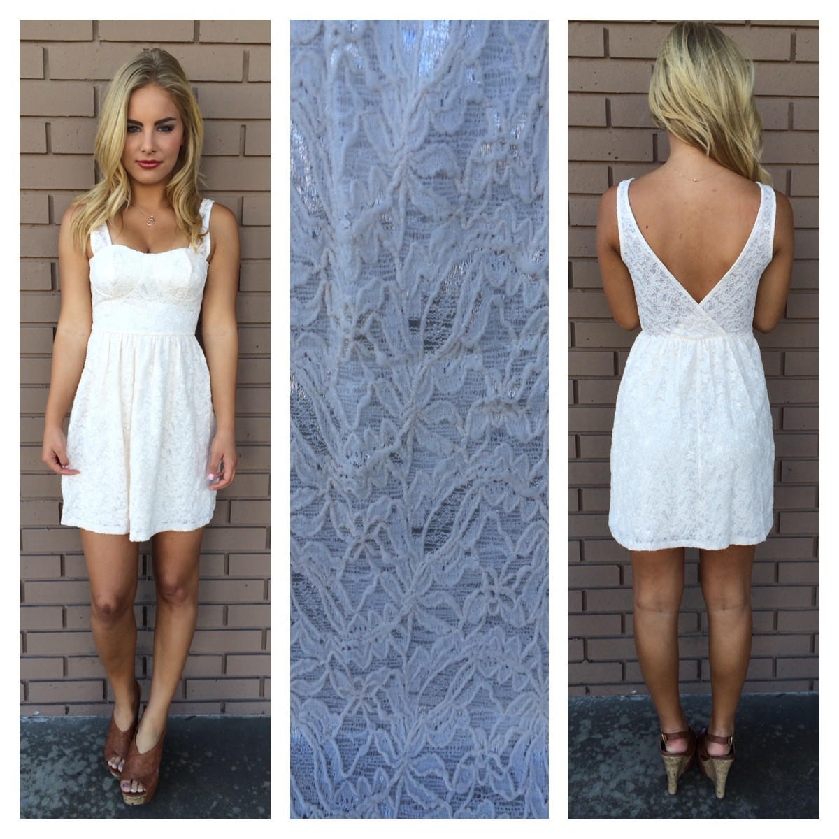 Image of Pretty in Ivory Lace Dress
