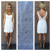 Pretty in Ivory Lace Dress