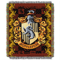 Exclusive Hufflepuff Crest Tapestry Throw | HarryPotterShop.com