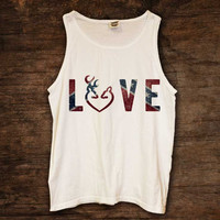 Rebel Flag LOVE Design Tank