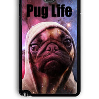 Samsung Galaxy Note 3 Case - Rubber (TPU) Cover with Funny Pug Life On Galaxy Design