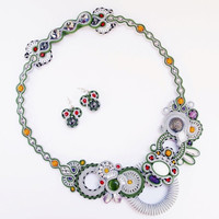 On SALE Soutache set statement soutache jewelry.