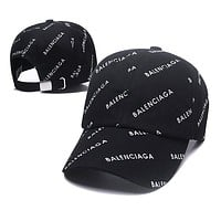 Balenciaga Hot Sale Women Men Sport Sunhat Print Baseball Cap Hat