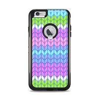 The Bright-Colored Knit Pattern Apple iPhone 6 Plus Otterbox Commuter Case Skin Set