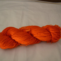 Hand Dyed Bluefaced Leicester Superwash Fingering/Sock Cumquat