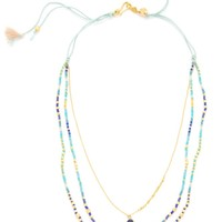 Beaded Shell Layered Necklace