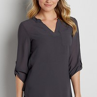 the perfect textured tunic blouse | maurices
