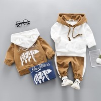Baby Boy Clothing Winter Hoodies And Pants Matching