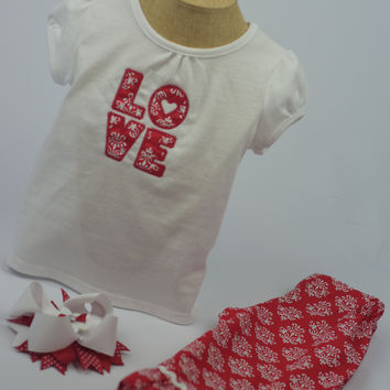 """""""LOVE"""" Outfit by Mandy Lou {Red/White}"""