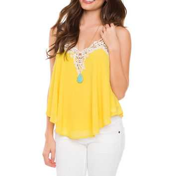 Aster Lace Top - Yellow