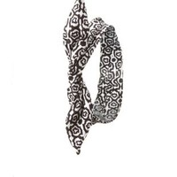 Abstract Print Wired Headband by Charlotte Russe - Black/White