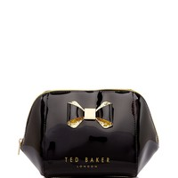 Ted BakerLarge Trapeze Glitter Bow Cosmetic Case