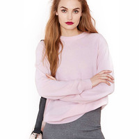 Long Sleeves Round Neck Knitted Sweater