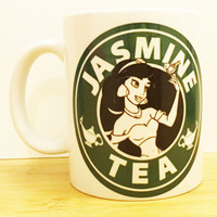 Jasmine Tea Coffee Mug |  Aladdin Starbucks |  Disney Princess