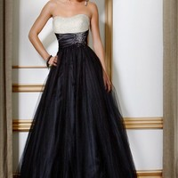 Tulle Embellished Ball Gown, Evening Dress Style 7137