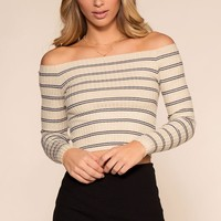Lenore Off The Shoulder Top - Ivory