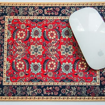 Pashmina Flowers Rug Made in USA Mouse Pad