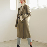 Double Breasted Wool Blend Coat | STYLENANDA