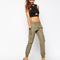 Daisy Street Cargo Pant With Pocket Detail