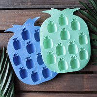 sunnylife - pineapple ice trays 2 set blue/green
