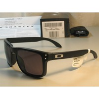 [Store.vip] NEW POLARIZED HOLBROOK MATTE BLACK/WARM GREY IRIDIUM SUNGLASSES