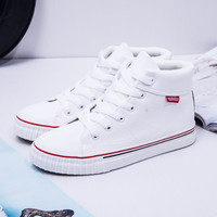 Winter Korean Thick Crust Permeable Flat High-top Shoes [8865457228]