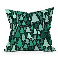 Leah Flores Wild and Woodsy Throw Pillow